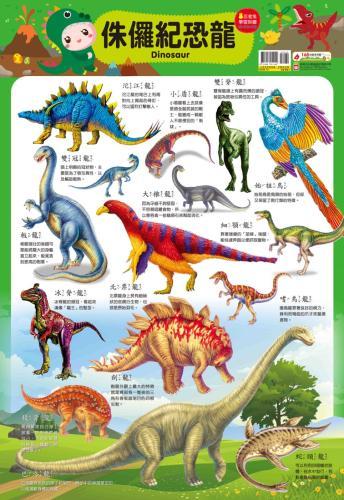 忍者兔學習掛圖:侏儸紀恐龍