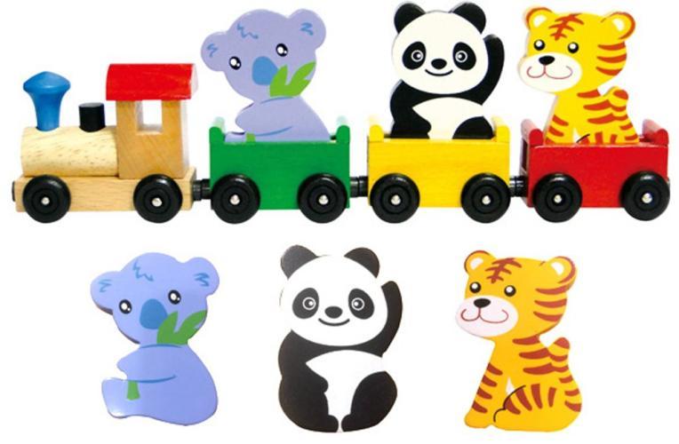 動物磁鐵火車組01-3011C(新版)