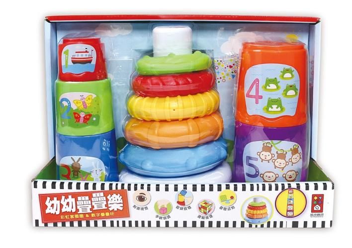 幼幼疊疊樂:彩虹套圈圈+數字疊疊杯