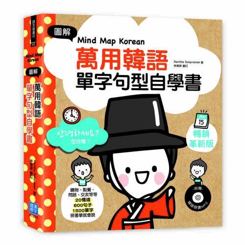 Mind Map Korean圖解萬用韓語單字句型自學書:購物、點餐、問路、交友等等20情境×600句子×1500單字,照著學就會說(附韓語朗讀MP3)